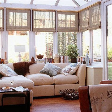 Sunroom Shades Sunroom With Cloth Or Bamboo Blinds And A Multi Palnel