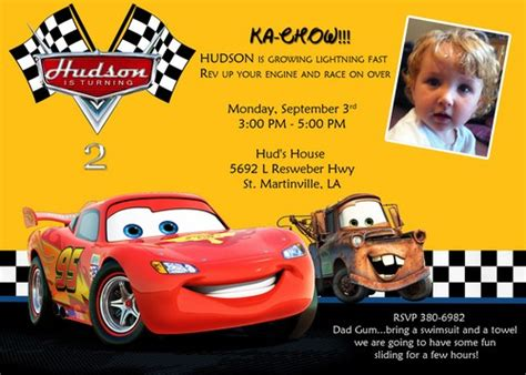 cars invitation cards templates disney cars birthday invitations ideas bagvania free