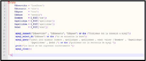 base de conocimientos como introducir el codigo de curso de php gratis con base de datos en mysql grupo codesi