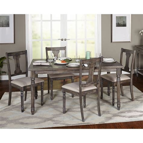 Dining Living Room Furniture Simple Living 5 Burntwood Dining Set By Simple Living Simple Living Dining Sets And Room
