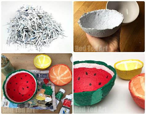 How 2 Make Paper Mache - papier mache summer fruit bowls ted s