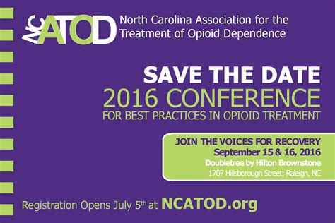 Ncatod Ncatod Org Conference Save The Date Email Template