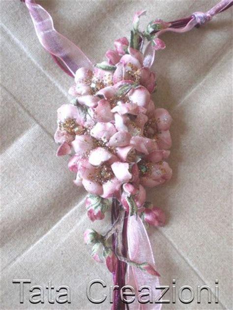 fiori in tessuto collana con fiori in tessuto gioielli collane di