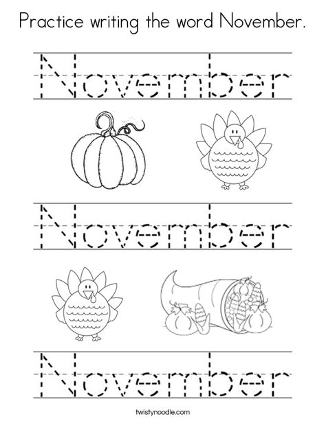 welcome november coloring pages practice writing the word november coloring page twisty