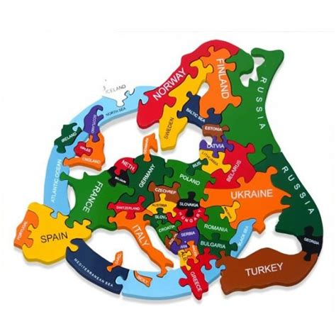 Handmade Toys Uk - wooden jigsaw puzzles map of europe