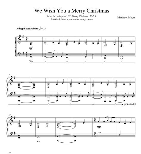 merry christmas matthew mayer solo piano