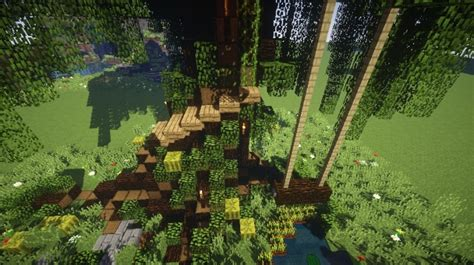 treehouse with swing treehouse with a swing w guide tour minecraft project