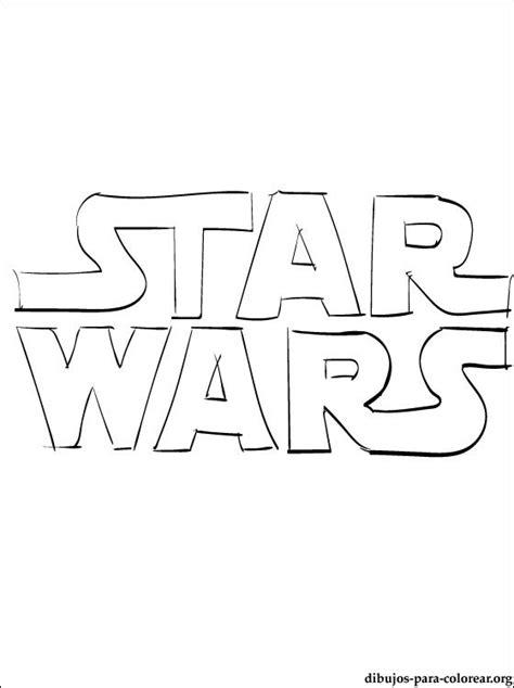 dibujo star wars logo para pintar dibujos para colorear