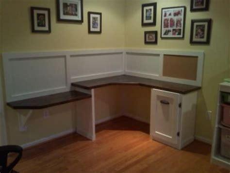 Diy Corner Desk Office Pinterest Built In Desk Diy Built In Desk
