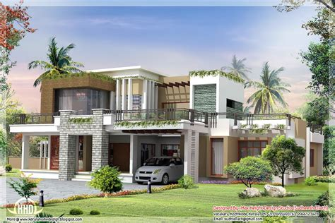 modern home plans with photos exterior collections kerala home design 3d views of