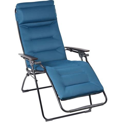 lafuma padded recliner lafuma futura air comfort padded recliner coral blue