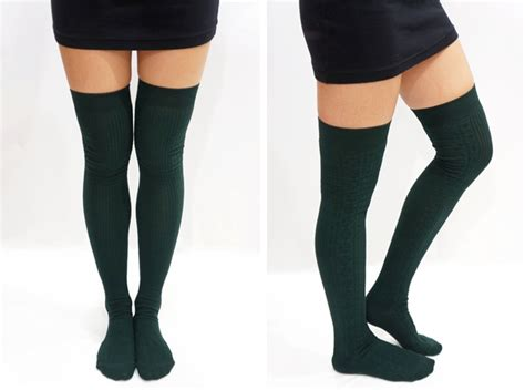 thigh high knit socks knit thigh high knee high socks tights on storenvy