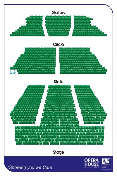 Opera House Seating Plan Manchester Manchester Opera House Seating Plan Manchester Boxoffice Co Uk