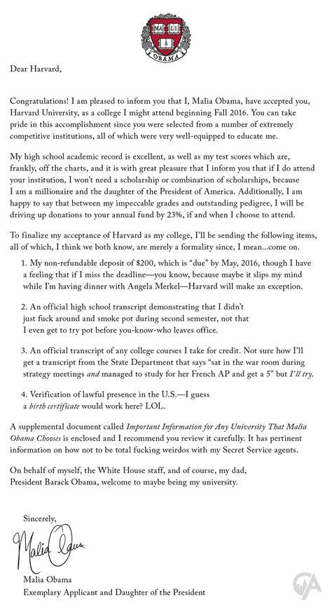 Malia Obama Sends Acceptance Letter To Harvard
