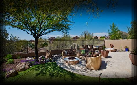 custom arizona pools and landscape phoenix az blooming desert