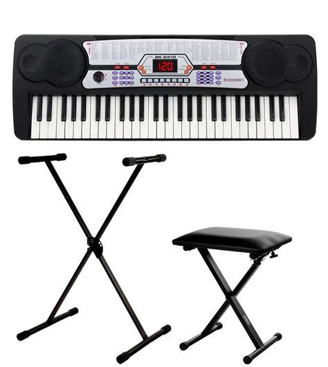 keyboard bench and stand mcgrey bk 5410 beginner keyboard set incl stand and bench