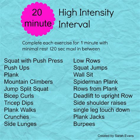 20 minute hiit workout see run sf