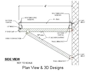 Awning Construction Details by Commercial Canopies And More Csc Awnings