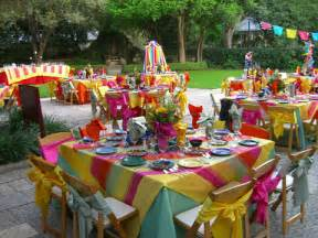 Mickey S Backyard Barbecue Kids Birthday Party Table Decorating Ideas Photograph Part
