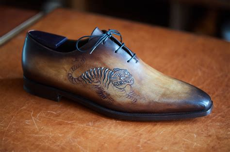 tattoo shoes from berluti with scott campbell something