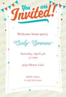 Invitation Templates Free Greetings Island Welcome Invitation Template