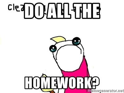 Clean All The Things Meme Generator - do all the homework clean all the things meme generator