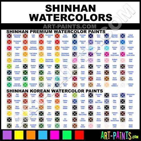Shinhan Watercolor Paint Brands Shinhan Paint Brands