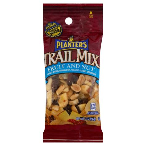 Planters Fruit And Nut Trail Mix by Trail002 Trail Mix Planters Fruit Nut 2oz 72ct Salty Snacks Chips