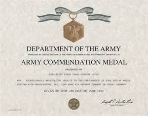 army achievement medal certificate template army commendation medal certificate