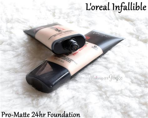 L Oreal Infallible Pro Matte Foundation Shade Golden Beige makeupbyjoyce swatches review drugstore haul