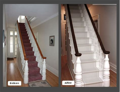 Black Stair Spindles Black Stair Rail With White Spindles Let S Redo The