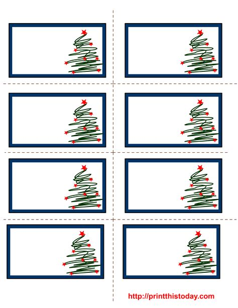 free printable christmas tags that you can type on free printable christmas labels with trees