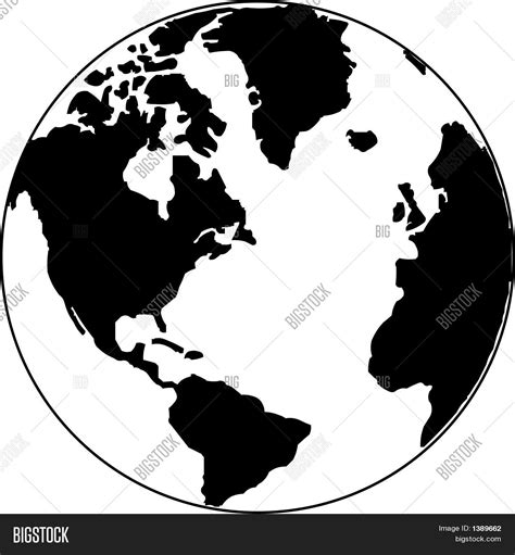 globe maps vector vector map of the world on the globe stock vector stock