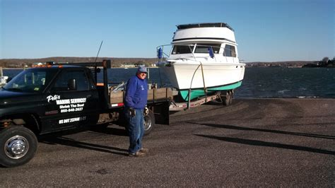 boat hauling  transport petes marine services