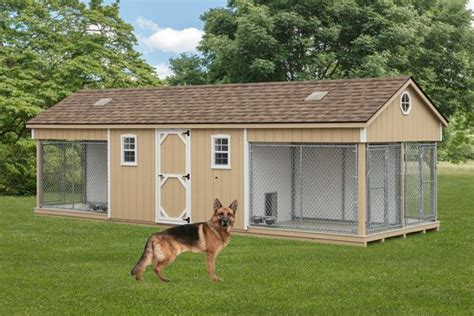shed dog house combo k 9 police 4 dog custom built outdoor kennel house w run amish pa dutch shed amish