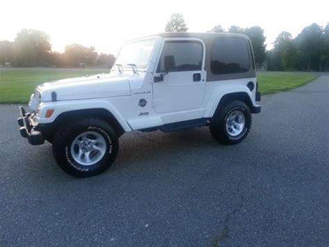 tan jeep wrangler 2 door find used 2002 jeep wrangler sahara sport utility 2 door 4