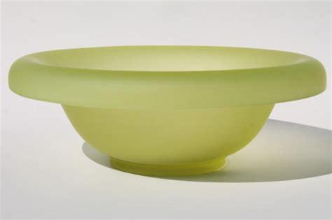 Vase Sconces Art Deco Vintage Yellow Green Vaseline Glass Bowl And