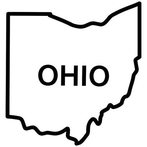 ohio clipart ohio state outline clipart clipground