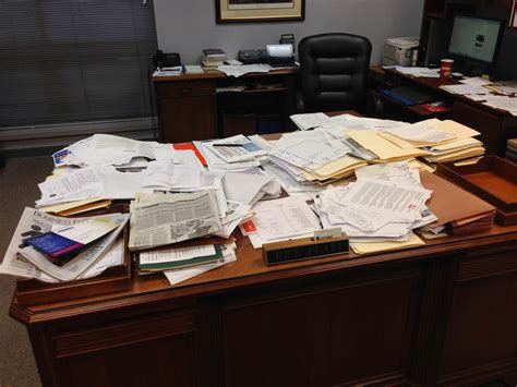 Disorganized Desk by Desk At Work Just B Cause