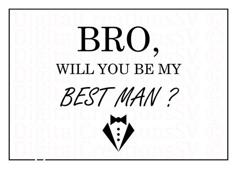 be my groomsman card template printable bro will you be my best best