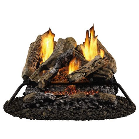 shop style selections 24 quot vent free gas logs with glowing