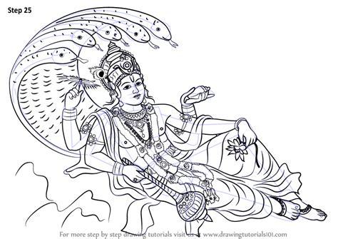 step  step   draw lord vishnu drawingtutorialscom
