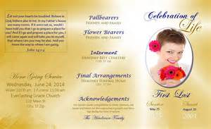 free celebration of templates lifecycleprints celebration of funeral program