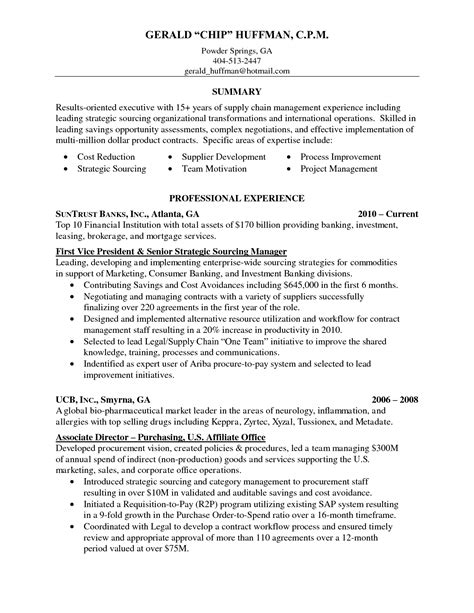 senior buyer resume sle buyer resume sle 28 images sle resume executive