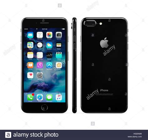 apple iphone 7 plus black front side and rear views stock photo royalty free image