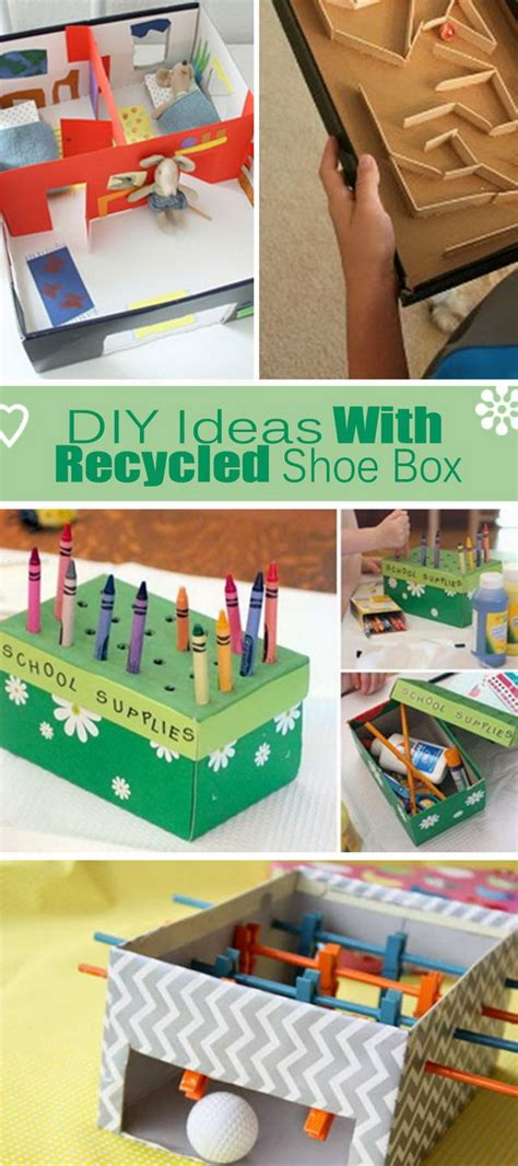 shoe box diy projects diy ideas with recycled shoe box hative
