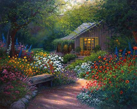 white cottage garden flowers charles white artist paintings charles white
