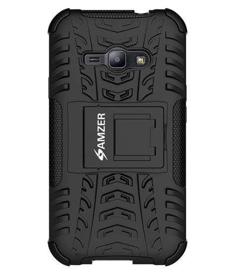 amzer back cover with stand for samsung galaxy j1 ace sm j110h black buy amzer back cover