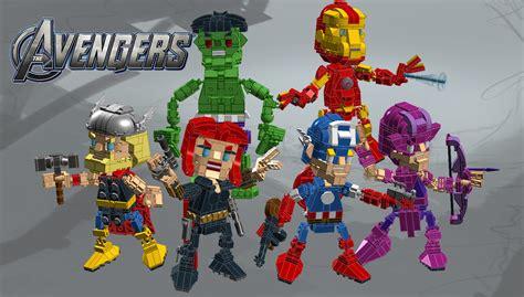 Figure Captain America Ironman Chibi lego ideas chibi lego builds chibo s marvel the captain america thor iron