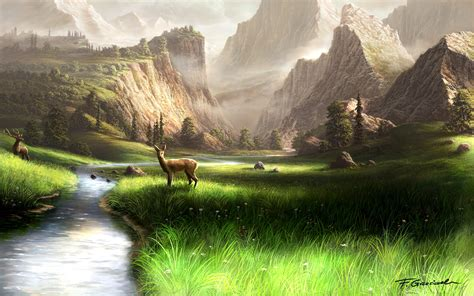 mountain landscape by fel x on deviantart
